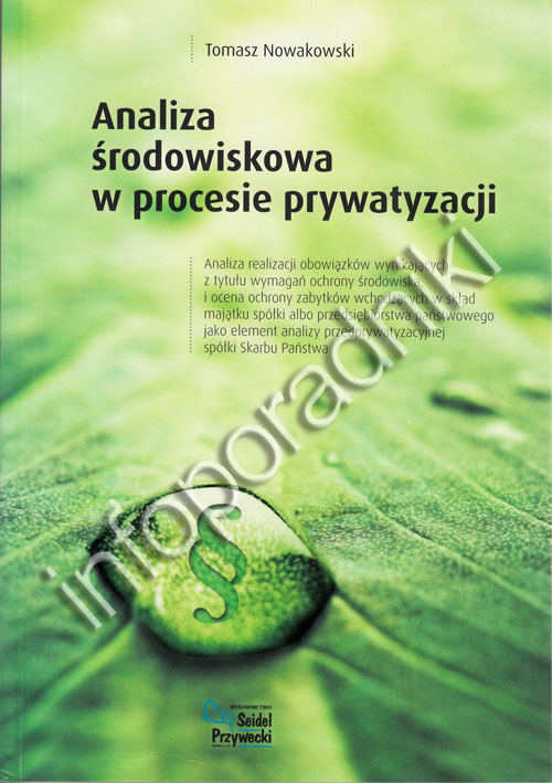 Analiza środowiskowa w procesie prywatyzacji - okładka