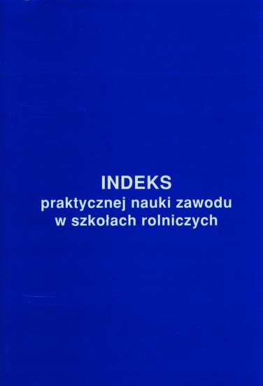 Indeks praktycznej nauki zawodu w szkołach rolniczych