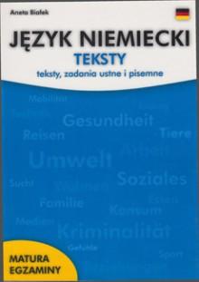 Język niemiecki - Teksty, zadania ustne i pisemne