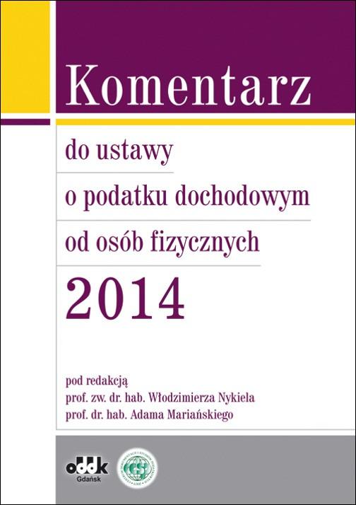 Komentarz do ustawy o podatku dochodowym od osób prawnych 2014