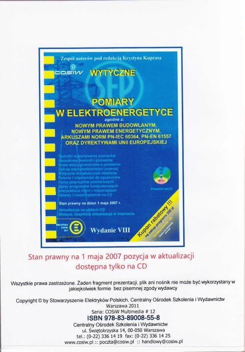 Pomiary w elektroenergetyce, wytyczne  (E-book)