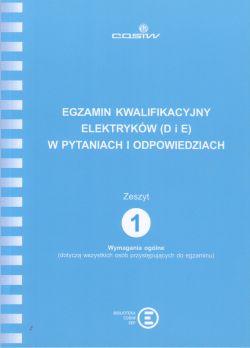 Egzamin Kwalifikacyjny Elektryków D i E Wymagania ogólne z.1
