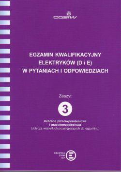 Egzamin kwalifikacyjny elektryków (D i E) w pytaniach i odpowiedziach Z. 3